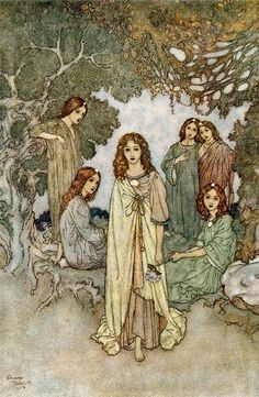 The garden of paradise by Edmund Dulac                                                                                                                                                                                 More