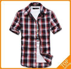 casual Short sleeve brand shirt for men