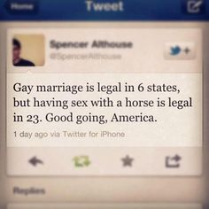 Stop horsing around - marriage equality NOW