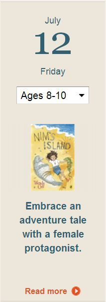 Looking for an adventure tale with a female protagonist? Try Nim's Island!