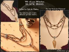 We All are witches thème Black Moon Black Moon, Cycle, Avril, Voici, Chain, Inspiration, Jewelry, Smoky Quartz, I Want You