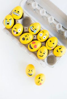 Make a dozen emoji Easter eggs by following this simple spring DIY tutorial.