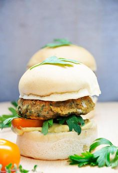 These #glutenfree lentil sweet potato burgers have both meaty texture and strong flavor! High in protein, macrobiotic and vegan, these little ones will surely become your favorite quick snack too! :) | Gourmandelle.com