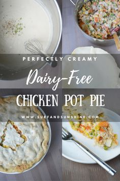 Perfectly Creamy Dairy Free Chicken Pot Pie via @jeanabeena #recipe #holiday #thanksgiving #christmas #dairyfree