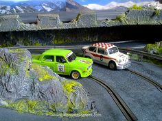Fiat Abarth (Scalextric) and Simca Rally (Revell) at my Slot Car Track  #fiat #abarth #simca #1000 #slotcartrack #slot #hobby #scenary #slotcar #alotslot #scalextric #scx #ninco #carrera #slotit #rally #rallycar #racing #race #dreamcar #wrc #gp #gt #f1 #wec #lemans #diorama #scale132 #hobby #modelism #diecast #miniature #toy #modelcar #motor #motorsports