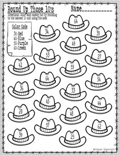 Ch 4 Free rounding to the nearest 10 printable. Rounding 3rd Grade, Rounding Activities, Rounding Worksheets, Rounding Numbers, Second Grade Math, Kindergarten Activities, Math Numbers, Number Worksheets, Alphabet Worksheets