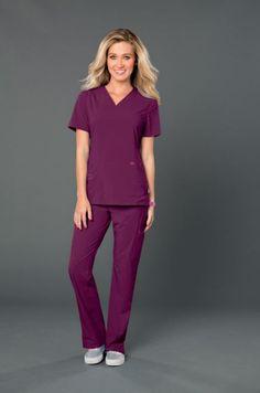 Smitten's ROCK GODDESS TUNIC is now available in WINE. #Smitten #Scrubs #Medical #Fashion #Uniforms #New #Fall #Styles #Nurse #Nursing #CNA #Med #Tech #Heart #Wings #Rock #Goddess #Wine #Maroon #Burgundy