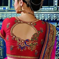 Amazing Bridal Blouse Back Neck Designs Cutwork Blouse Designs, Pattu Saree Blouse Designs, Simple Blouse Designs, Stylish Blouse Design, Blouse Back Neck Designs, Bridal Blouse Designs, Sari Bluse, Hand Work Blouse Design, Designer Blouse Patterns