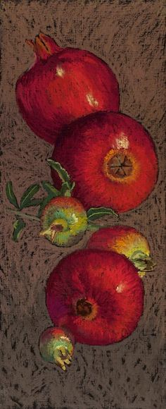 Pomegranates by mljart on Etsy