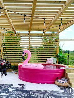 Piscina Diy, Stock Pools, Stock Tank Pool, Diy Swimming Pool, Kiddie Pool, Swimming Memes, Galvanized Stock Tank, Pool Designs, Bench Designs
