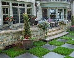 patio stone wall and wrapped porch