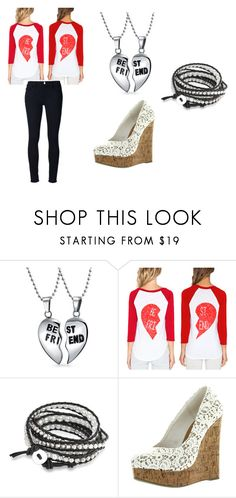 """""""Best friend"""" by smithy-32 ❤ liked on Polyvore featuring Bling Jewelry and Frame"""