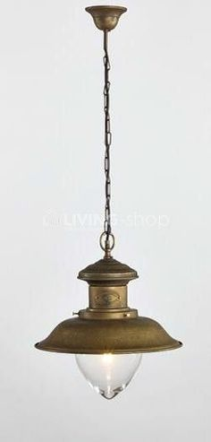 Antique bronze buitenhanglamp poolhouse Maritieme outdoor verlichting www.living-shop.eu