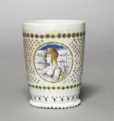 Marriage Beaker Marriage Beaker, late 1400s Italy, Venice, late 15th century opaque glass (milk glass or lattimo), enameled, Overall - h:10.20 w:7.40 cm (h:4 w:2 7/8 inches). Purchase from the J. H. Wade Fund 1955.70