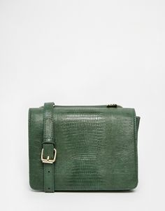 Glamorous Small Cross Body in Moc Croc