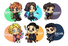 """hiihez: """"My chibi fanart from Fantastic Beasts and where to find them ❤️ """""""