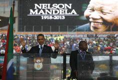 President Obama + US Delegation at Nelson Mandela's Memorial   Dec 10, 2013
