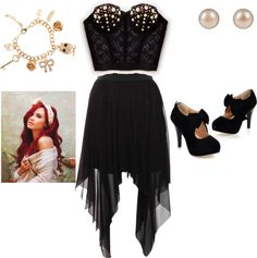 """club outfit"" by joselinzelaya ❤ liked on Polyvore"