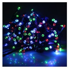 AGPtek® MultiColor Solar Power Fairy Light String for Indoor Outdoor Home Garden Christmas Party (72ft 200 LED 2 Light Modes) by AGPtek. $29.95. Specifications: Larger Solar Panel  Simple to use for no hassle lighting 200 LED at 10cm spacing  Auto Sensor controls lighting and recharging Charging time in sunshine: more than 6 hours Light color: multicolor Working temperature -20¡ãC--+60¡ãC  Dimension:  Overall: Approx 22M (72ft) Panel to 1st bulb approx 100cm Between bulbs...