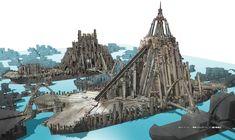 設定資料 アニメ - Google 検索 Fantasy Places, Sci Fi Fantasy, Fallout, Spiderman, Cathedral, Buildings, Fanart, Navy, Travel