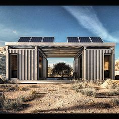 New Old Stock double unit. Off grid + cave LA bound June 2016 #containerhouse #containers #newoldstock #containerdwelling #shippingcontainer #cargoarchitecture #newoldstockinc