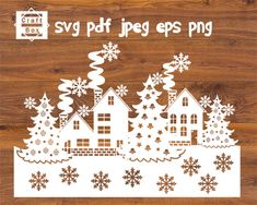 Christmas scenes svg, christmas house svg, christmas svg, winter scenes svg, baubles svg, christmas template, christmas design svg, svg file by CraftBox8 on Etsy