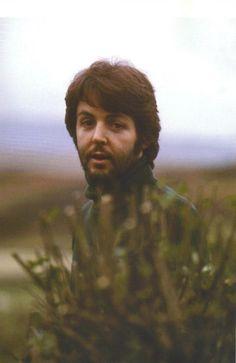 Paul McCartney at High Park Farm, circa 1969.