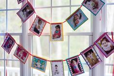 Project Nursery - monthly pics on rainbow cardstock, strung up by ribbon Rainbow Parties, Rainbow Birthday Party, Rainbow Theme, Baby 1st Birthday, First Birthday Parties, First Birthdays, Birthday Ideas, Picture Banner, Colorful Party
