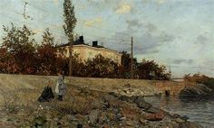 Evening at the Bay of Frogner - Frits Thaulow