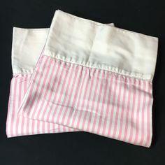 Retired Rare Ralph Lauren Worth Avenue King Pillowcase Pink Stripe Sateen    eBay