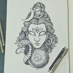 Lord Shiva Framed Art Print by Wayan Bayu - Vector Black - Shiva Hindu, Shiva Art, Hindu Art, Krishna, Lord Shiva Sketch, Mahadev Tattoo, Art Encadrée, Shiva Tattoo Design, Lord Shiva Painting