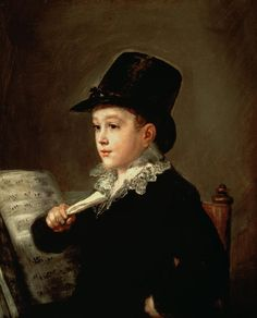 Portrait of Mauranito Goya, grandson of the artist. Art works by Francisco Goya — page 3 of 35