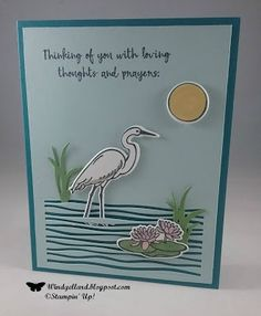 Windy's Wonderful Creations: Lilypad Lake Thinking Of You, Stampin' Up!, Lilypad Lake, Lakeside framelits dies
