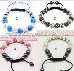 2012 newest knitted shamballa bracelet!DIY knitted shamballa bracelet!
