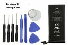 New apple 1430mAh Internal Replacement 3.7V Li-ion Battery For iPhone 4S & Tools #Apple