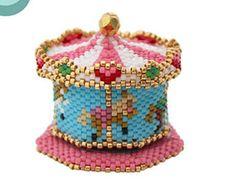 Bead Pattern: 3D Carousel Fairground Ornament