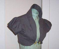 edwardian bolero tutorial. I Love the shape of the colar, I think I'll change and make a cardi/jacket ...