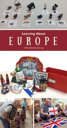 Montessori activities for learning About Europe