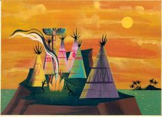 Concept Art by Mary Blair, Peter Pan