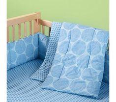Crib Bedding: Baby Blue Dotted Crib Bedding@Jordann O'Brien