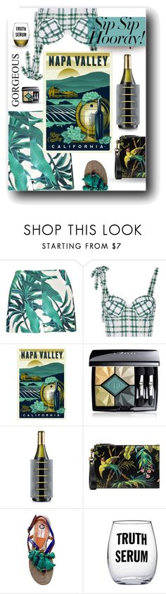"""""""Girls in Napa"""" by neverboring ❤ liked on Polyvore featuring Boohoo, Rosie Assoulin, Christian Dior, Eva Solo, Gucci, Lanvin and Susquehanna Glass"""
