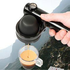 Handpresso Portable Coffee Machine – Outdoorsy Espresso Maker, Espresso Machine, Coffee Machine Design, Portable Coffee Maker, Cheap Coffee, Coffee Type, Coffee Mugs, Latte Art, Coffee Break