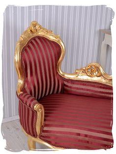 Ottomane Barock Gold Sofa Kanapee Liege Antik Stil Rokoko Möbel