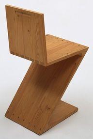 Gerrit Rietveld. Zig-Zag Chair. 1934