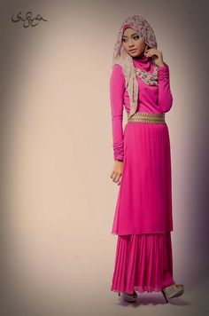 Sufyaa Contemporary Hijab - Sufyaa Flower Sheyla, Sufyaa Design 21, Sufyaa Design 323 - Pretty in Pink