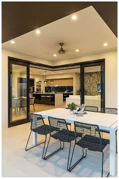 90° Sliding Stacker doors by Wideline. House by Mojo Homes. www.wideline.com.au