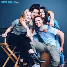 Riverdale-The Core Four: KJ Apa, Cole Sprouse, Lili Reinhart, Camila Mendes Kj Apa Riverdale, Watch Riverdale, Riverdale Funny, Riverdale Memes, Riverdale Tv Show, Riverdale Archie, Cast Of Riverdale, Riverdale Aesthetic, Orphan Black