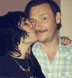 Noel Fielding and Julian Barratt <3 Noel is so cuddly and kissy. :)