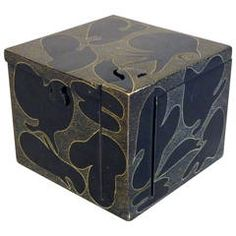 Decorated Stone Puzzle Box | From a unique collection of antique and modern boxes at https://www.1stdibs.com/furniture/more-furniture-collectibles/boxes/