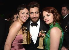 Inside the InStyle and Warner Bros. 2015 Golden Globes After-Party - Maggie Gyllenhaal, Jake Gyllenhaal, and Ruth Wilson from #InStyle